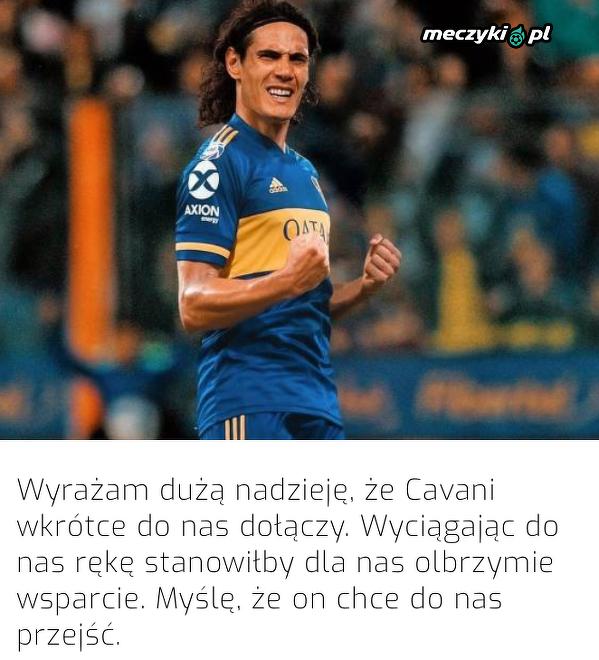 Prezydent Boca Juniors wierzy w transfer Cavaniego