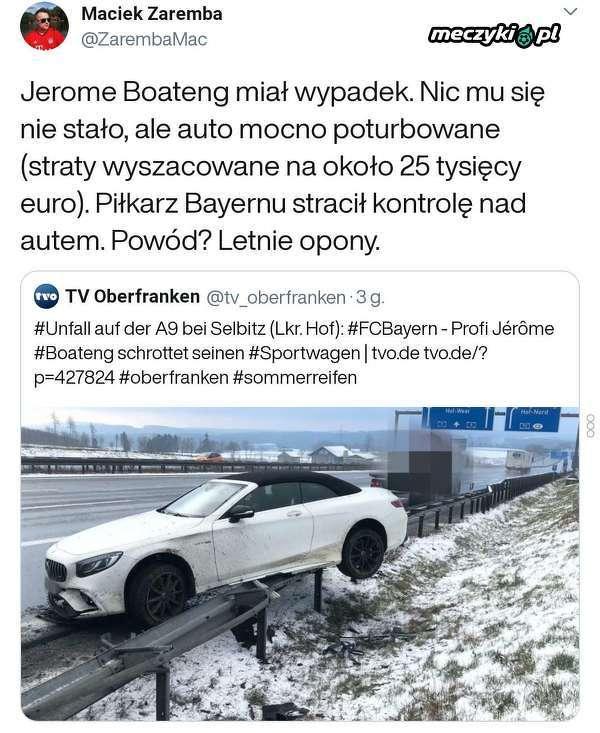 Jerome Boateng miał wypadek