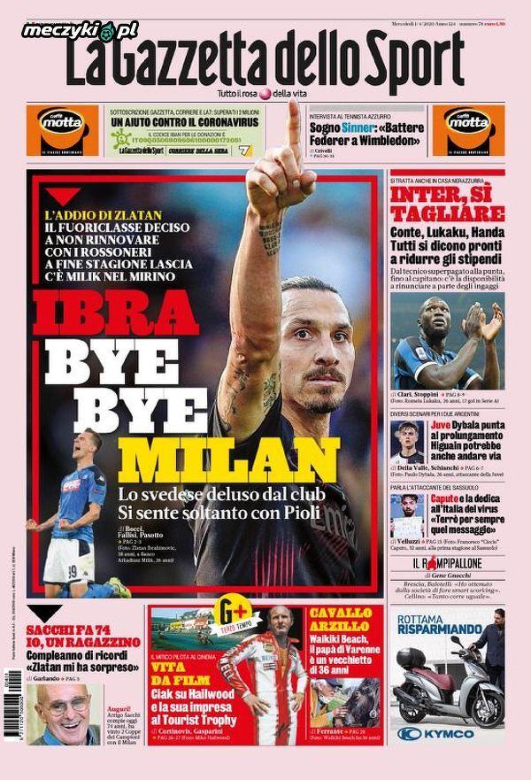 Milik na okładce dzisiejszego wydania La Gazzetta dello Sport