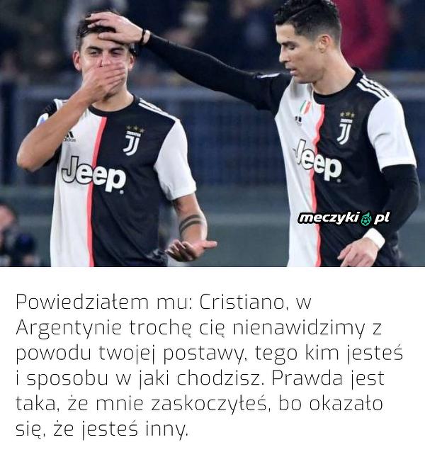 Dybala przekonał się, jaki Ronaldo jest naprawdę