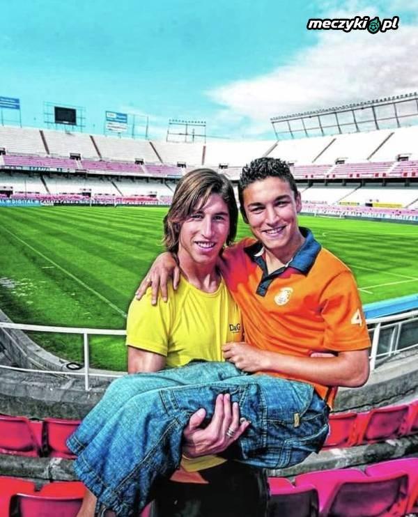 Bardzo stara fota Ramosa i Navasa