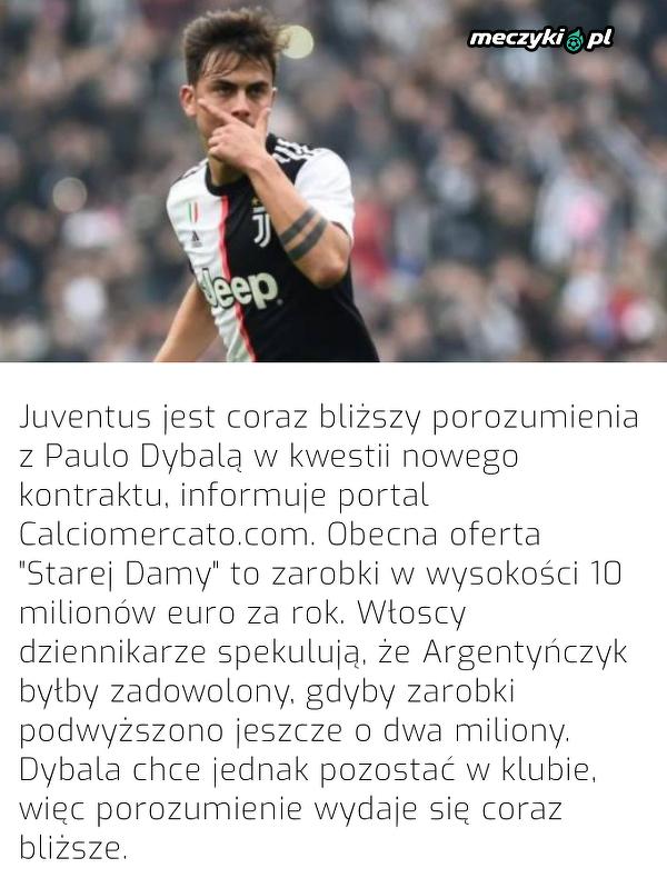 Juventus chce zatrzymać Dybalę na dłużej