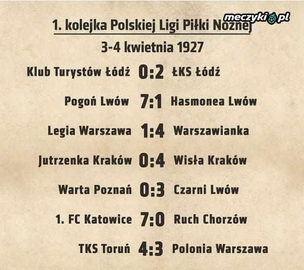 Dokładnie 93 lata temu, wystartowały pierwsze ligowe mecze w Polsce