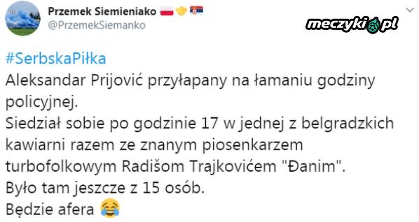 Były piłkarz Legii złamał godzinę policyjną