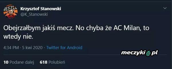 Krzysztof Stanowski nie lubi AC Milanu