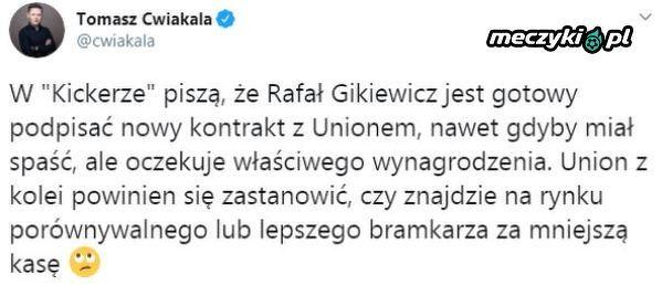 Gikiewicz gotowy na przedłużenia umowy