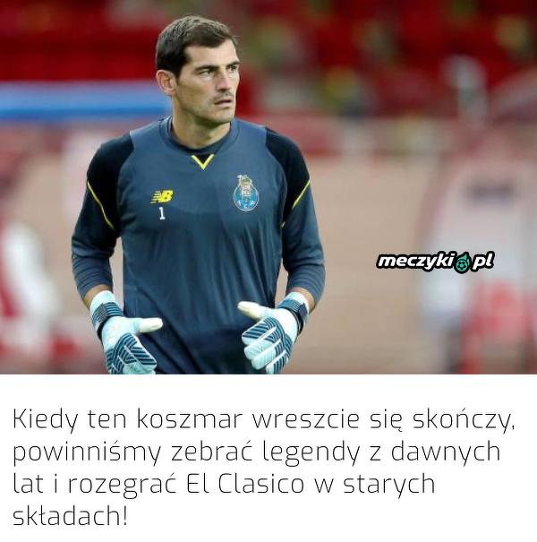 Iker Casillas chce zorganizować El Clasico legend!