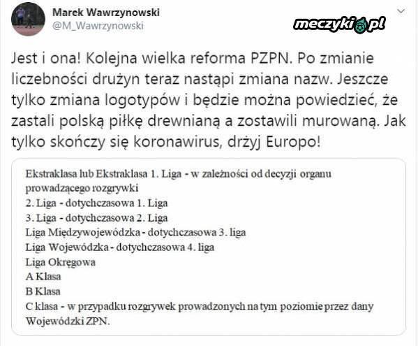 Zbigniew Boniek zamierza zmienić nazwy rozgrywek w Polsce