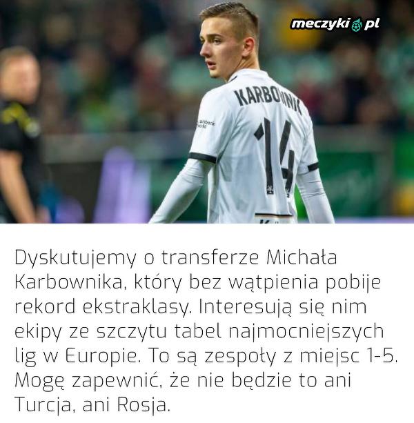 Agent Karbownika wykluczył dwa kierunki transferu