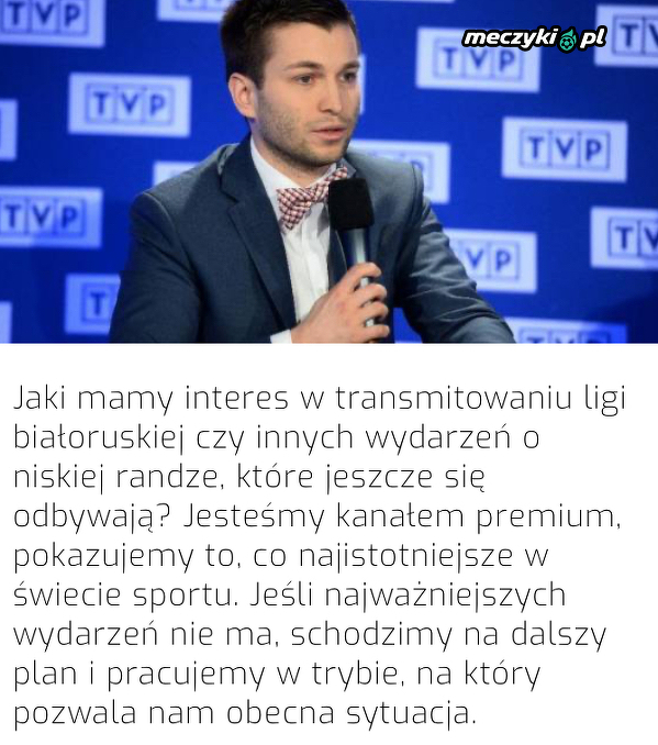 TVP nie będzie transmitować ligi białoruskiej