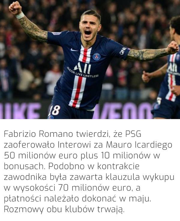 Tyle PSG zaoferowało Interowi za Icardiego