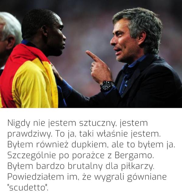 Mourinho wspominia siebie z czasów pracy w Interze