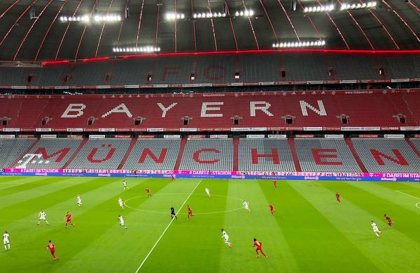 Smutny widok na Allianz Arena