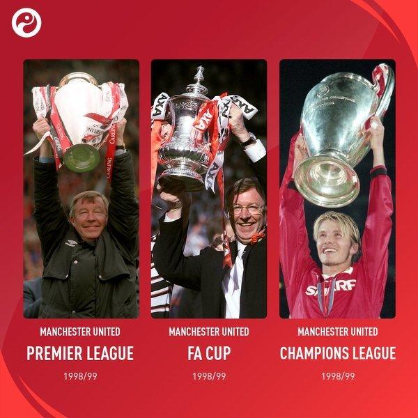 Dokładnie 21 lat temu Manchester United sięgnął po potrójną koronę