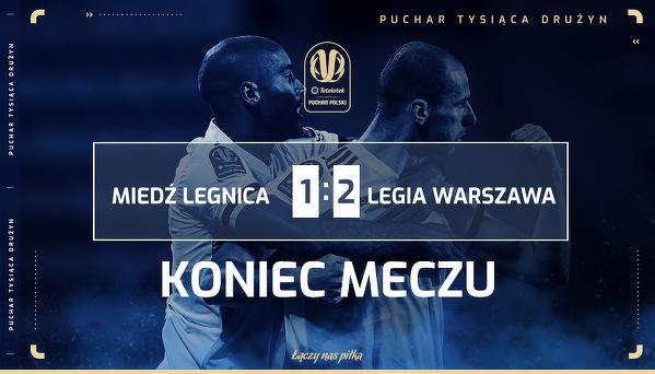 Legia w półfinale Pucharu Polski
