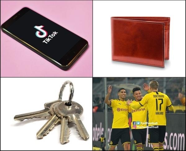 Rzeczy, które znalazł w kieszeni Anthony Davies po meczu z BVB