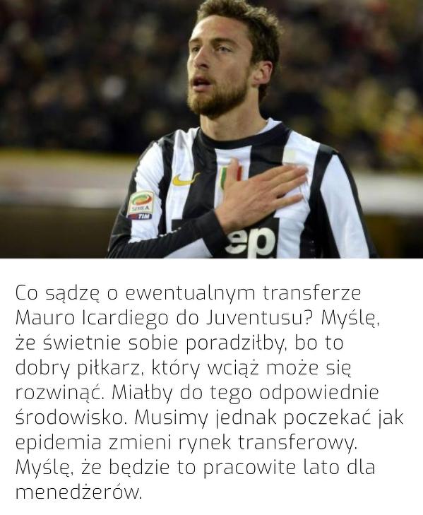 Marchisio widziałby Icardiego w Juventusie