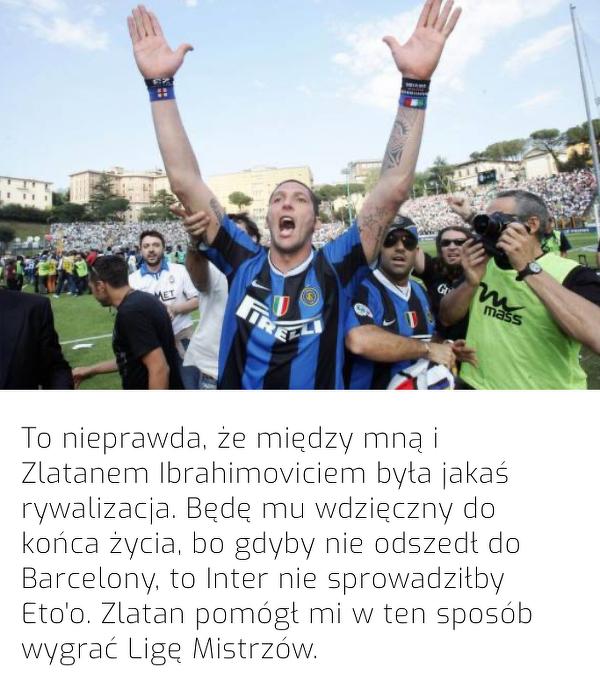 Za to Materazzi jest wdzięczny Zlatanowi