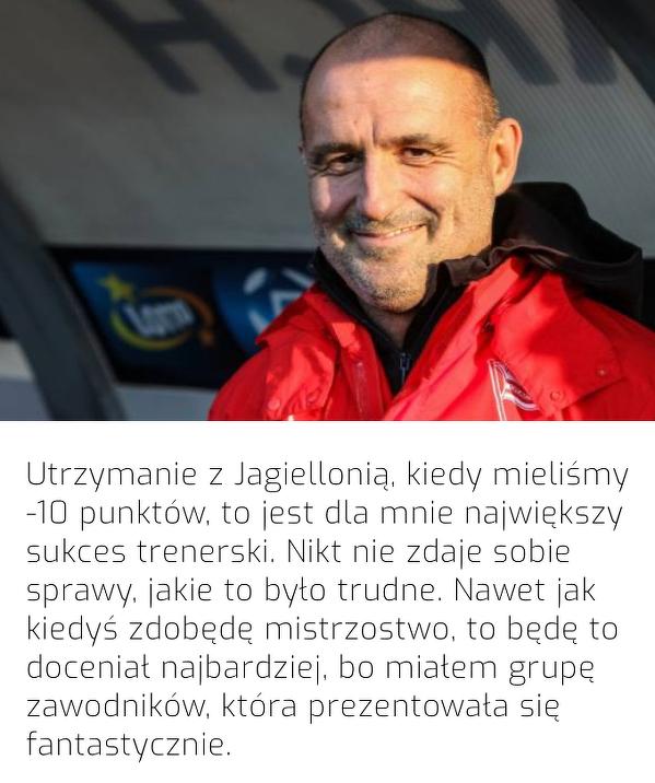 Największy sukces w trenerskiej karierze Probierza