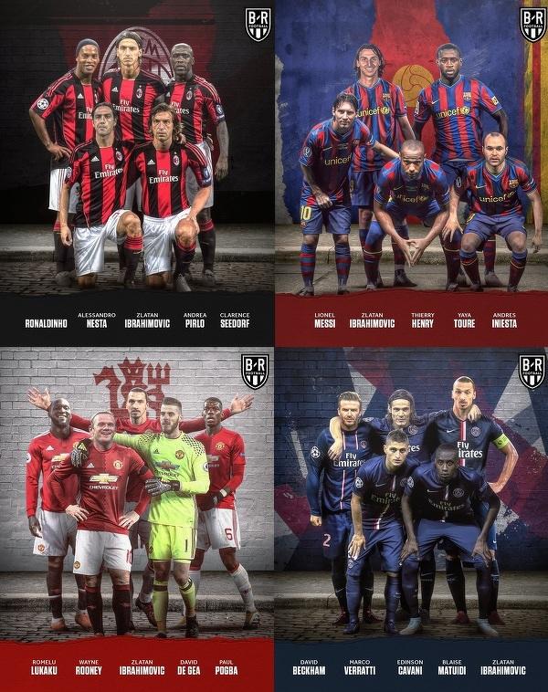 Zlatan grał z wieloma świetnymi piłkarzami