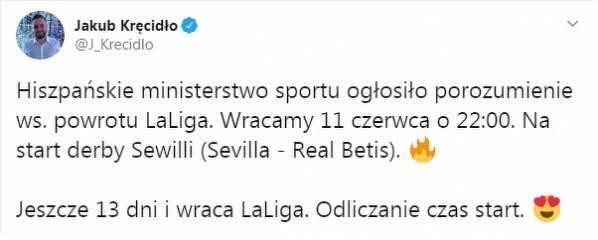 Oficjalnie: La Liga wraca 11 czerwca