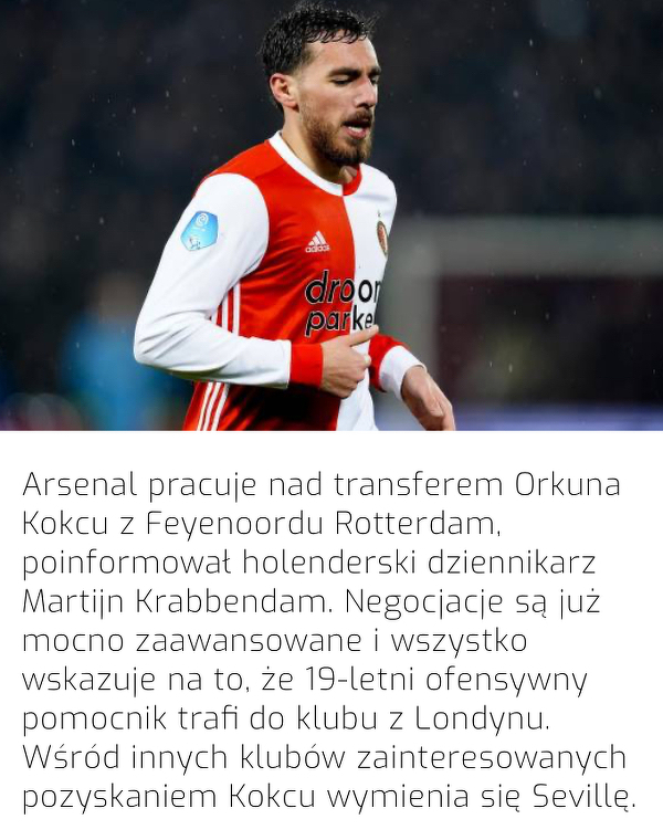 Z Feyenoordu do Arsenalu?