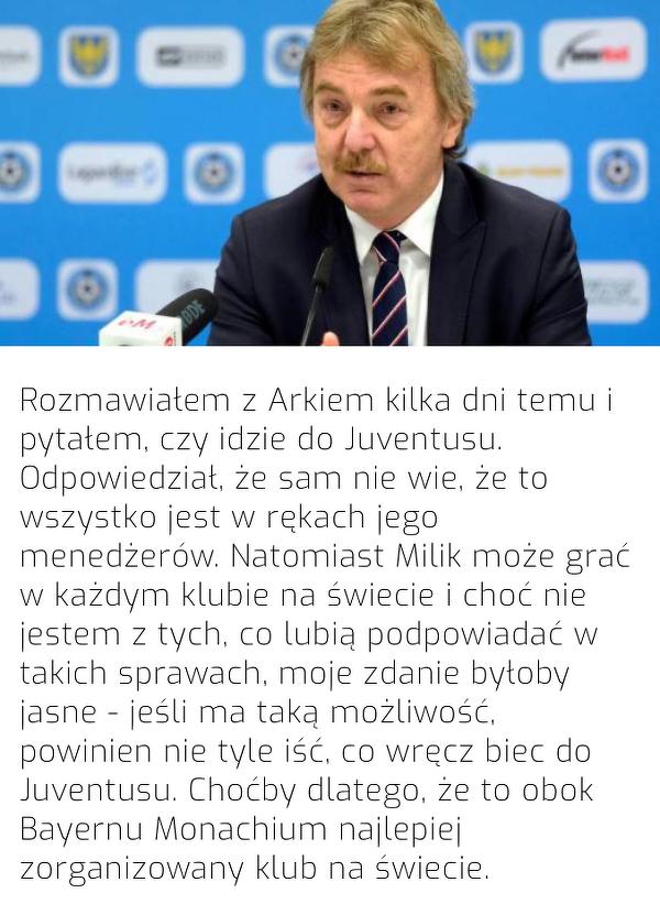 Boniek pytał Milika o Juventus