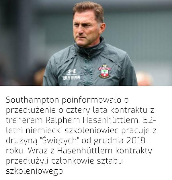 Southampton przedłużyło kontrakt z trenerem