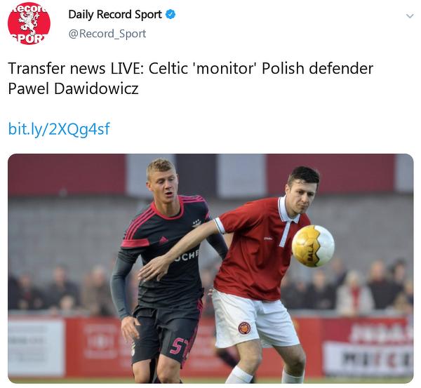 Celtic chce ściągnąć Pawła Dawidowicza