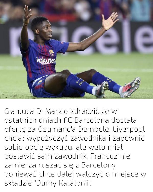 Dembele nie chce odchodzić z Barcelony