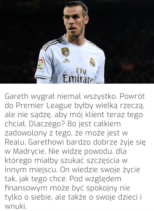 Gareth Bale nie ma zamiaru odchodzić z Realu Madryt