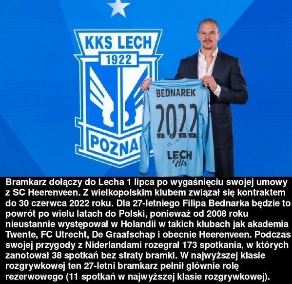 Oficjalnie: Filip Bednarek piłkarzem Lecha Poznań