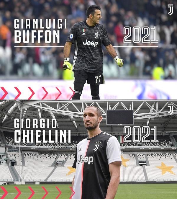 Buffon i Chiellini przedłużyli kontrakty z Juventusem do 2021 roku