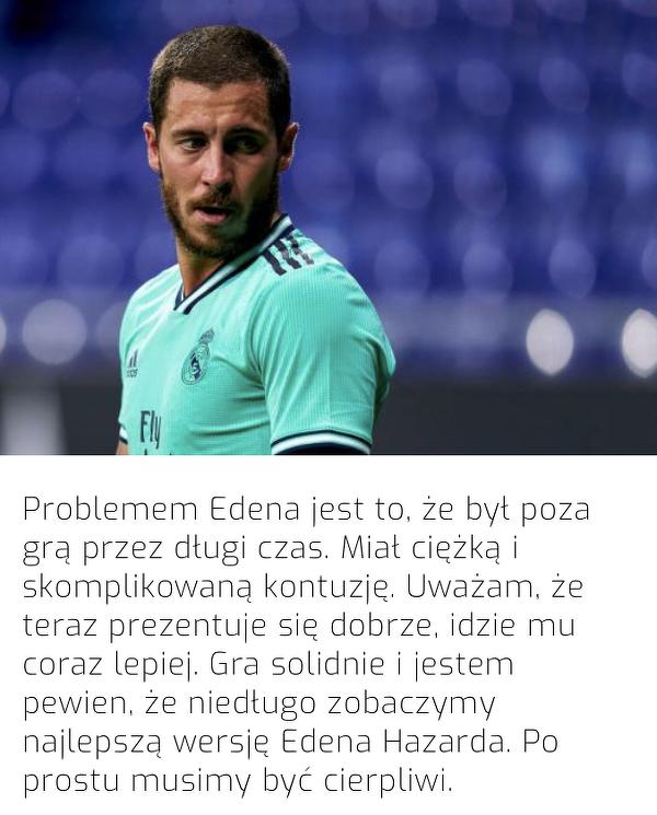 Zidane skomentował obecną sytuację Hazarda