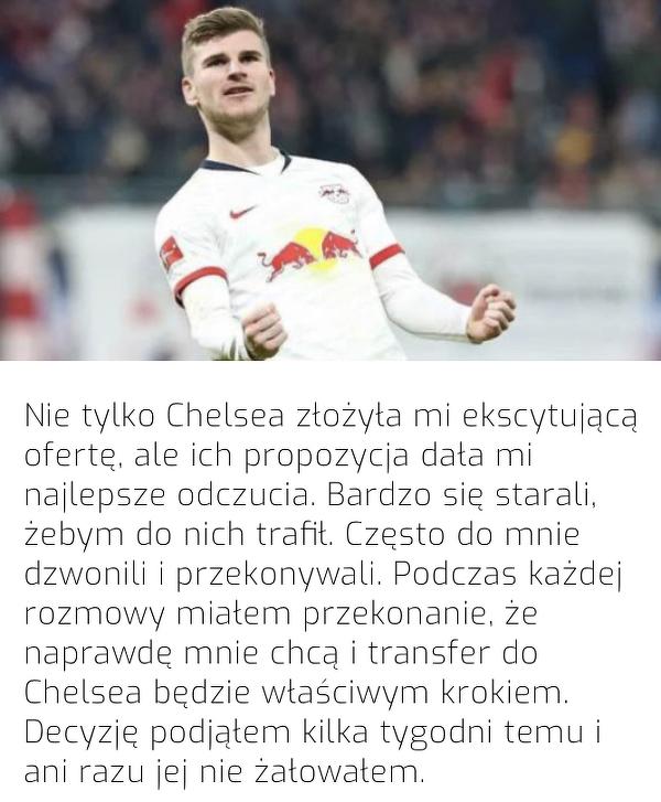 Dlatego Werner zdecydował się na transfer do Chelsea