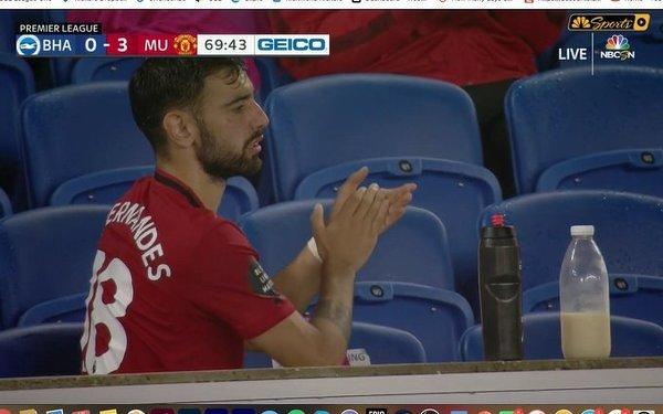 Bruno Fernandes po wysiłku pije... mleko!