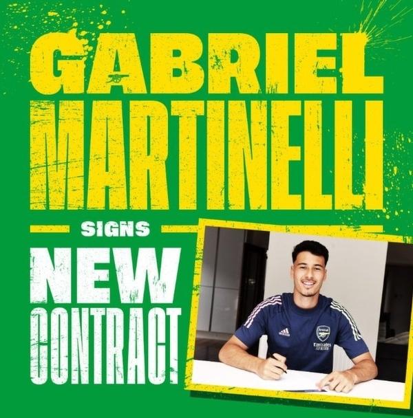 Gabriel Martinelli podpisał nowy czteroletni kontrakt z Arsenalem