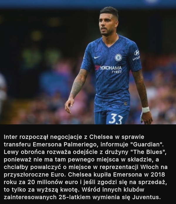 Inter chce ściągnąć Emersona