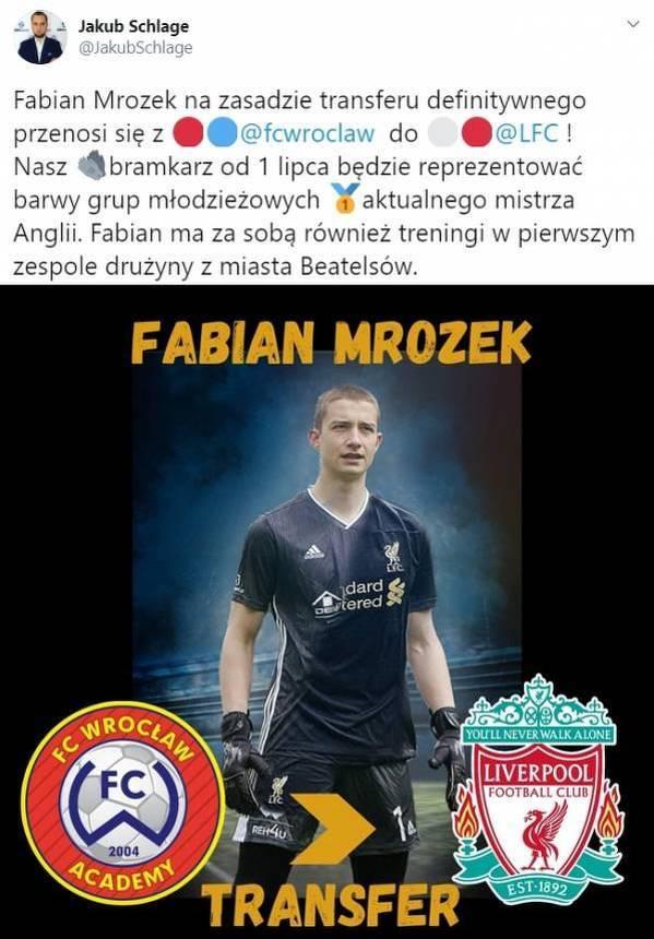 Kolejny polski bramkarz w Liverpoolu