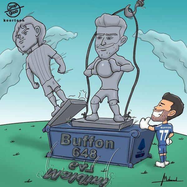 Buffon bije rekord Maldiniego