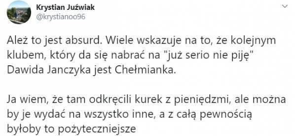 Nowym klubem Dawida Janczyka będzie Chełmianka?