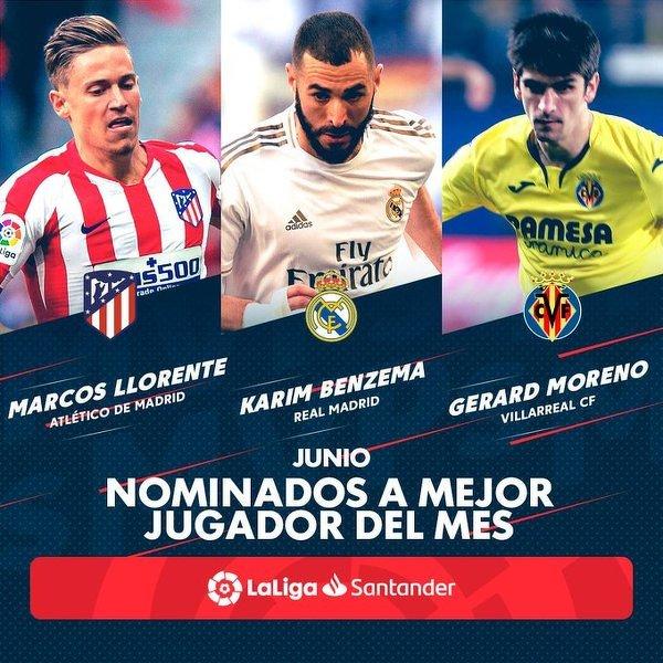 Nominowani do tytułu piłkarza miesiąca w La Liga