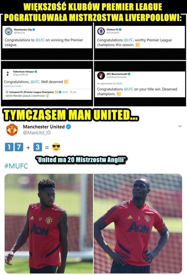 Man Utd nie pogratulował Liverpoolowi