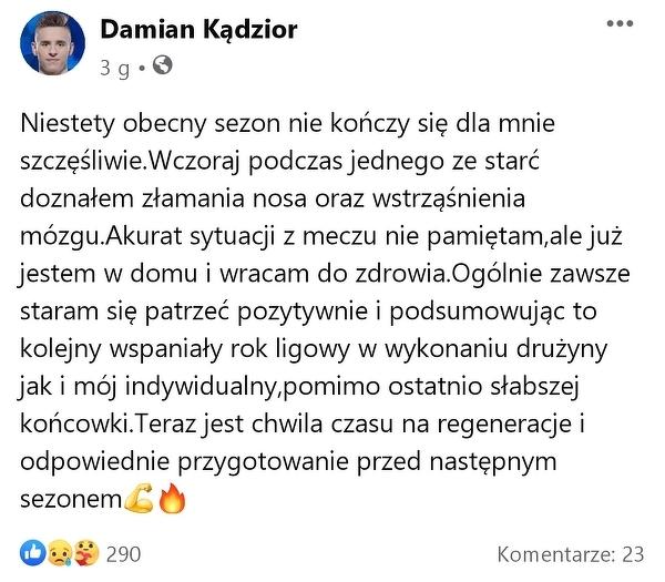 Pech Damiana Kadziora