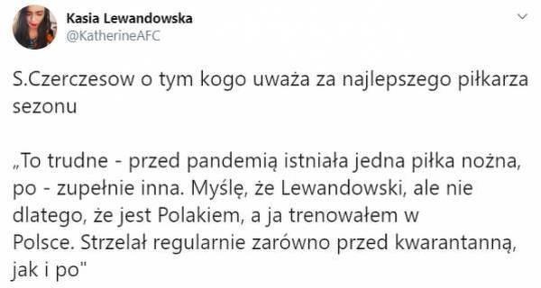 """Czerczesow docenia """"Lewego@"""