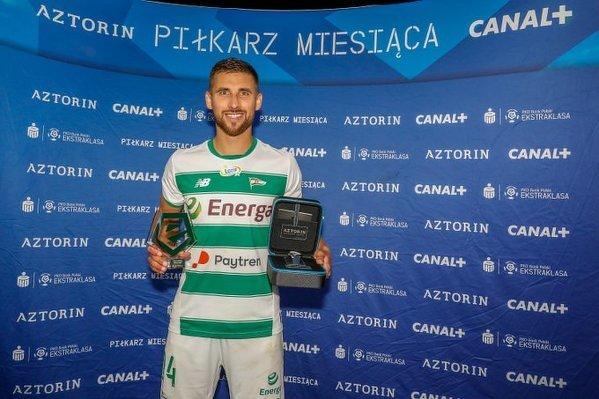 Łukasz Zwoliński został wybrany najlepszym piłkarzem Ekstraklasy w czerwcu