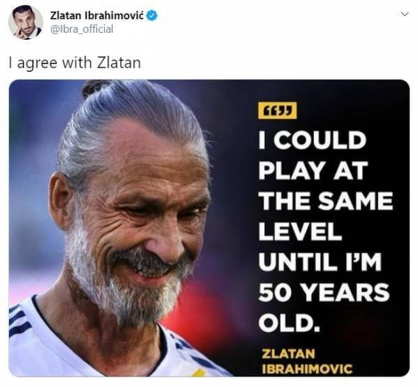 Zlatan zgodził się ze Zlatanem