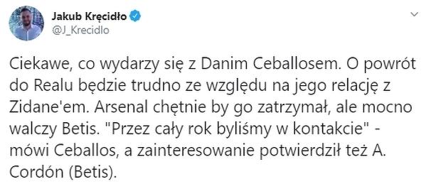 Co dalej z Danim Ceballosem?