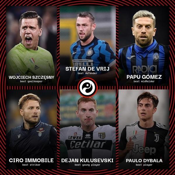 Najlepsi w zakończonym sezonie Serie A