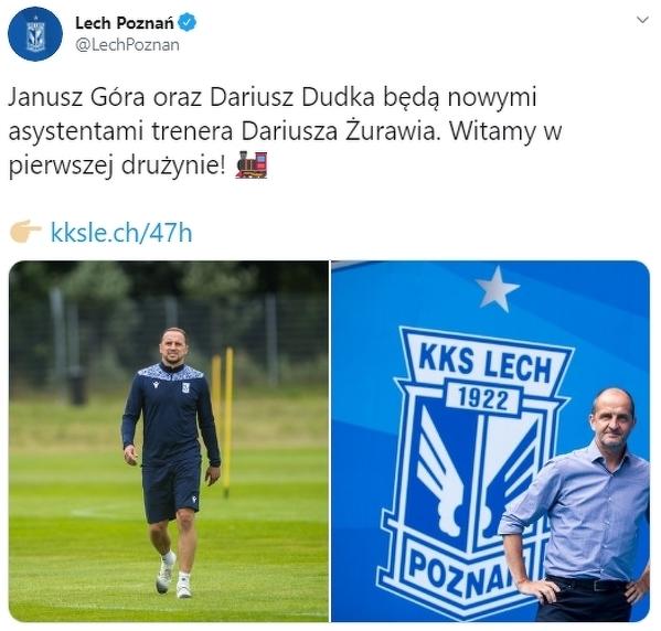 Nowi asystenci w sztabie szkoleniowym Lech Poznań